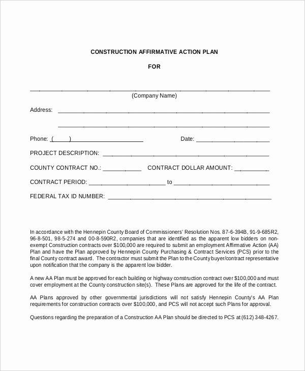 Affirmative Action Plan Template Unique 26 Action Plan Free Word Pdf Documents Download