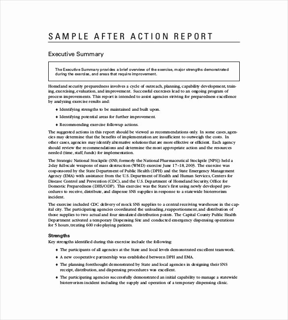 After Action Report Template Awesome after Action Report Template