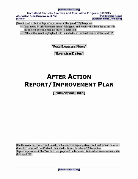 After Action Report Template Awesome Hseep Pliant after Action Report and Improvement Plan