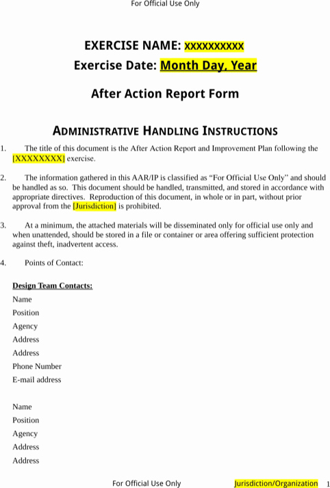 After Action Report Template Beautiful Download after Action Report Template for Free formtemplate