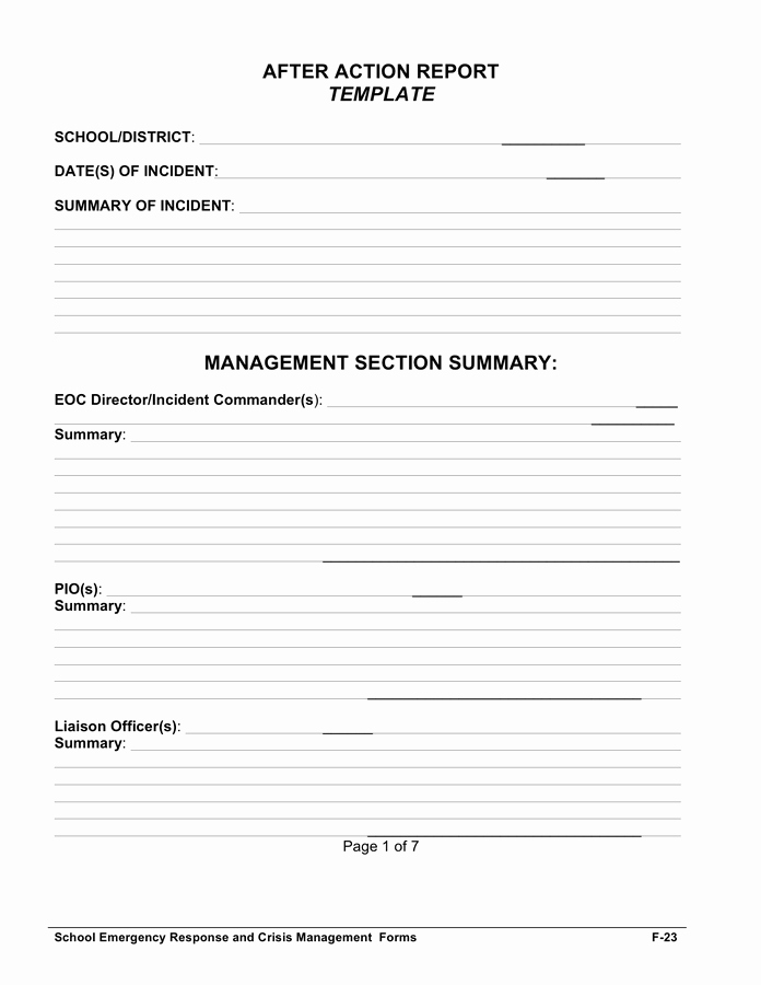 After Action Report Template Best Of after Action Report Template In Word and Pdf formats