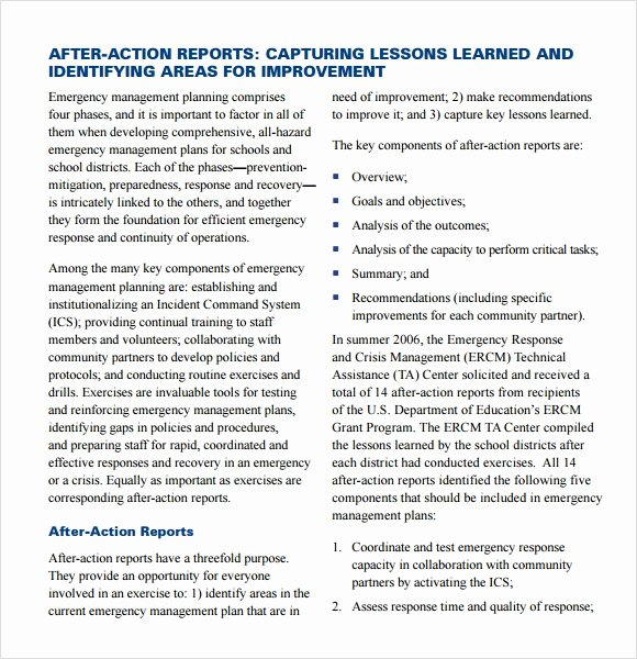 After Action Report Template Luxury Sample after Action Report 11 Documents In Pdf Google