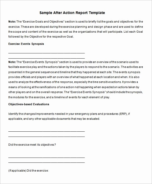 After Action Report Template New 14 after Action Report Templates Free Pdf Google Docs