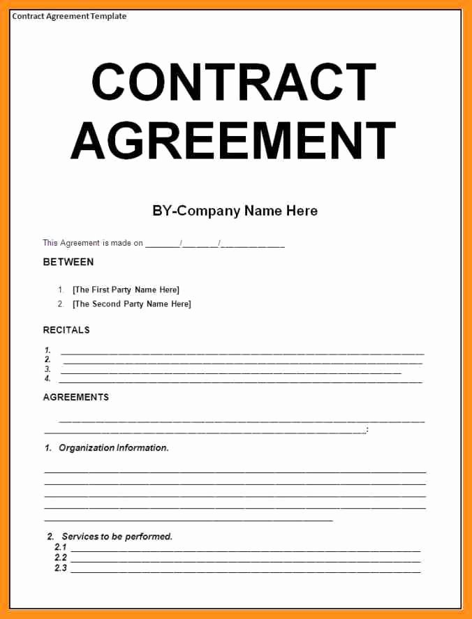 Agreement Template Between Two Parties Best Of Agreement Between Two Parties