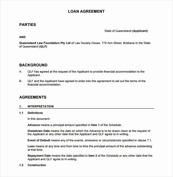 Agreement Template Between Two Parties Fresh 26 Great Loan Agreement Template