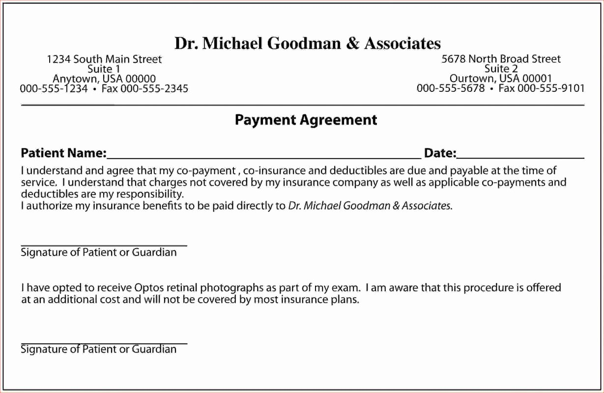 payment agreement letter between two parties