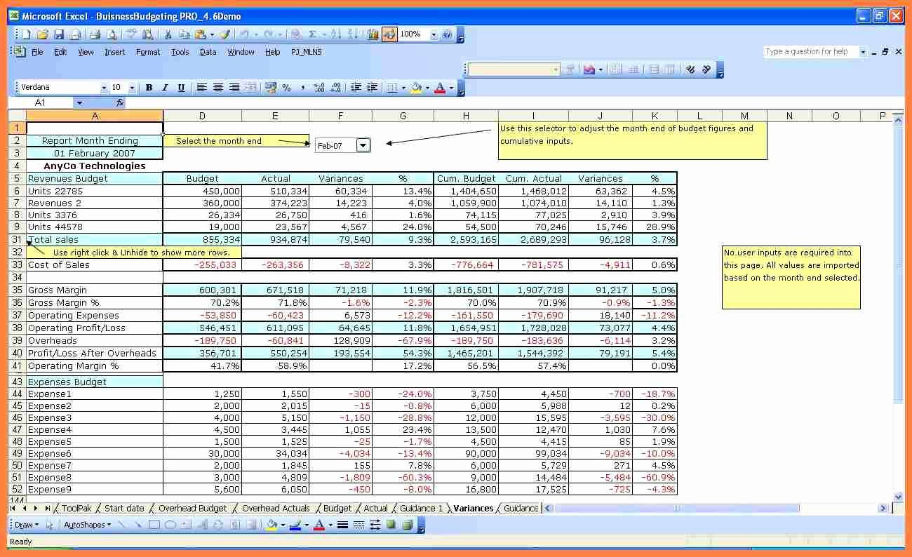 Annual Operating Budget Template Luxury 5 Excel Pany Bud Template