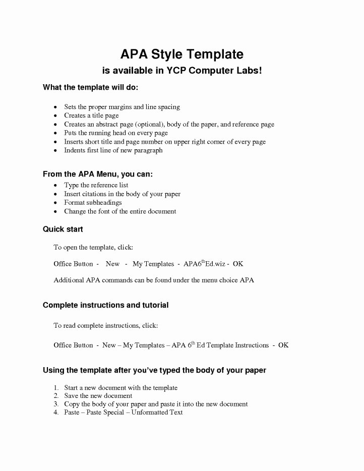 Apa Outline format Template Beautiful Apa Outline Template
