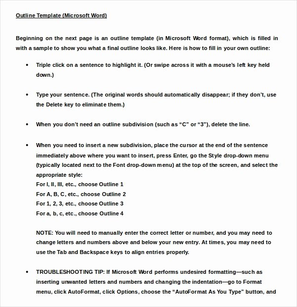 Apa Outline format Template Unique 9 Outline Examples Download In Word Pdf