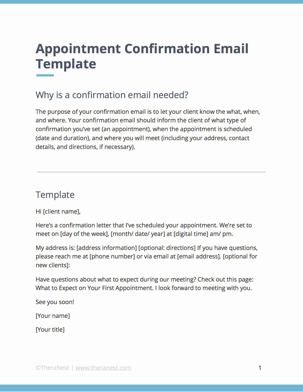 Appointment Confirmation Email Template Fresh Email Templates for Municating with Your therapy
