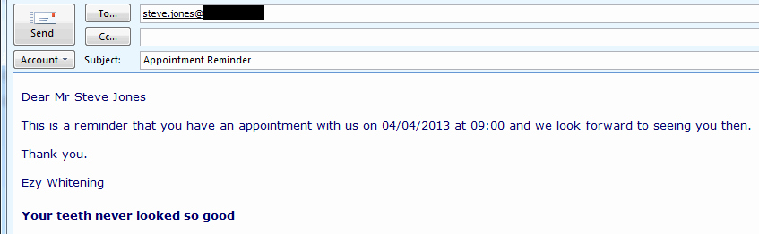 Appointment Confirmation Email Template Inspirational Appointment Reminder Email software Appointment