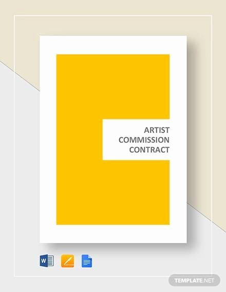 Art Commission Contract Template Inspirational Mission Contract Template 12 Download Free Documents