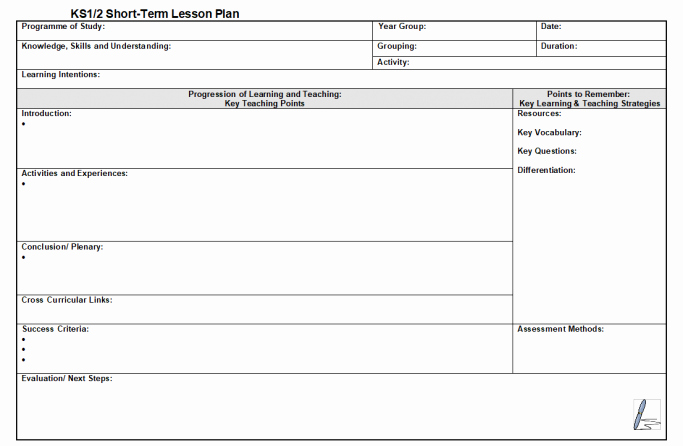 adaptable lesson plan template for ks1 and ks2