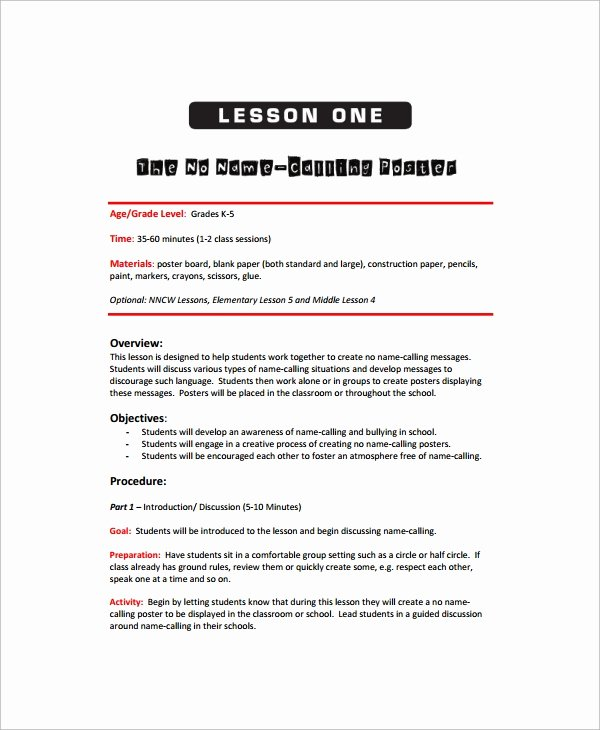 Art Lesson Plans Template Lovely Sample Art Lesson Plan 8 Documents In Pdf Word
