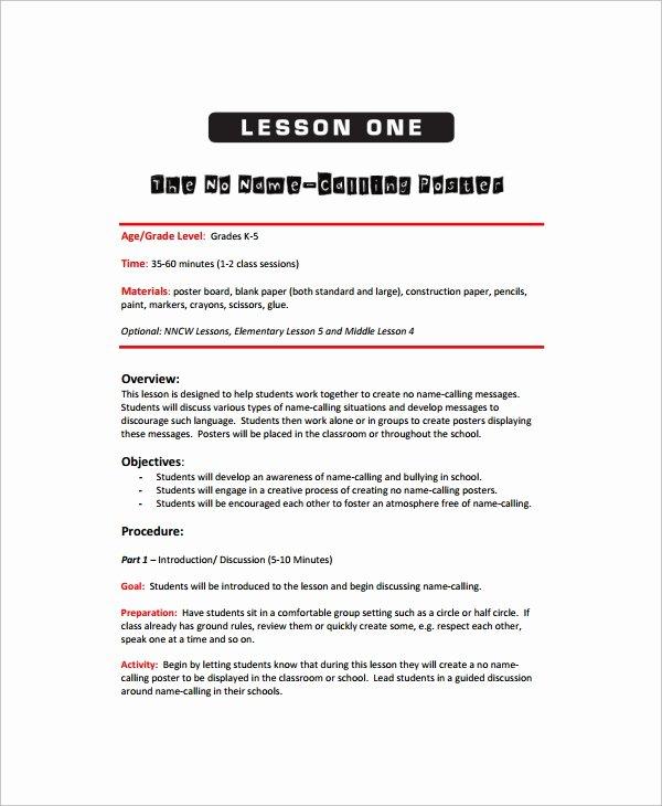 Art Lesson Plans Template Lovely Sample Art Lesson Plan 8 Documents In Pdf Word