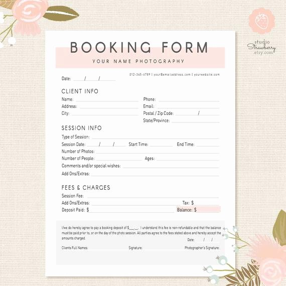 Artist Booking Contract Template New Graphy forms Client Booking form for Grapher