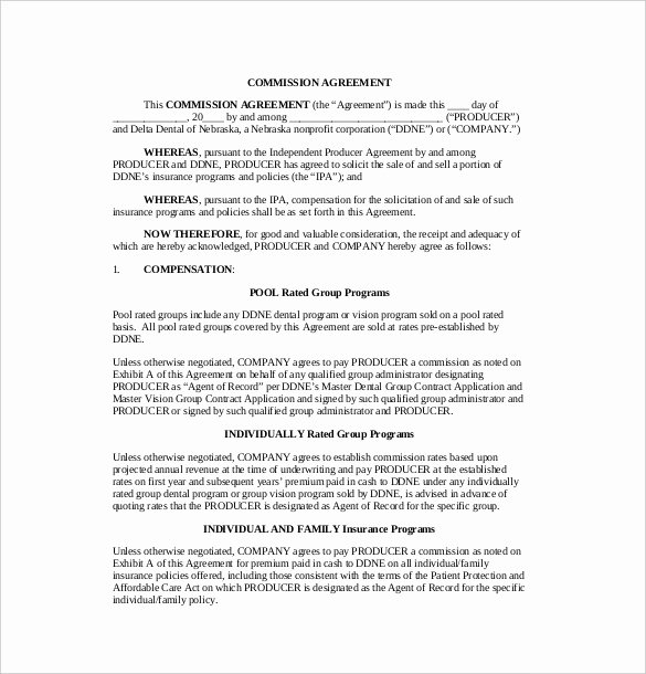 Artist Commission Contract Template Awesome 12 Mission Agreement Templates Word Pdf Apple