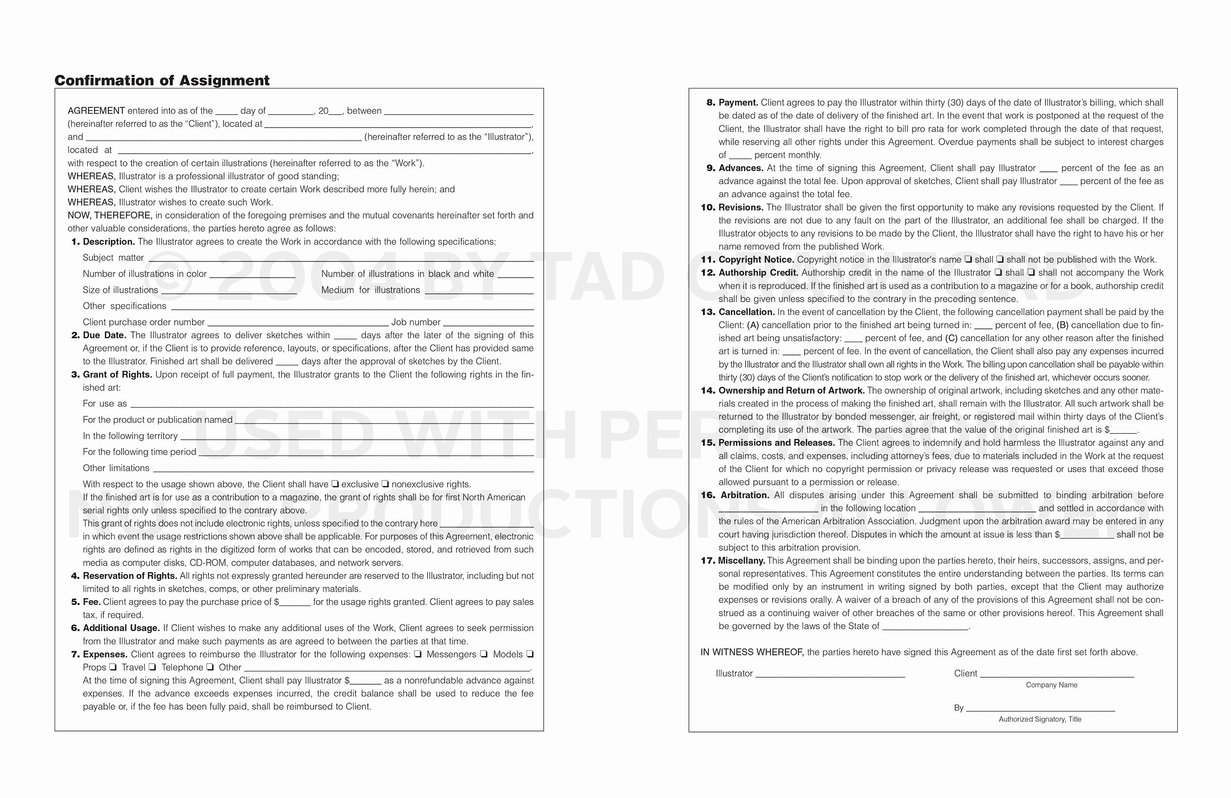 Artist Commission Contract Template Best Of What Should Go Into An Illustration Contract