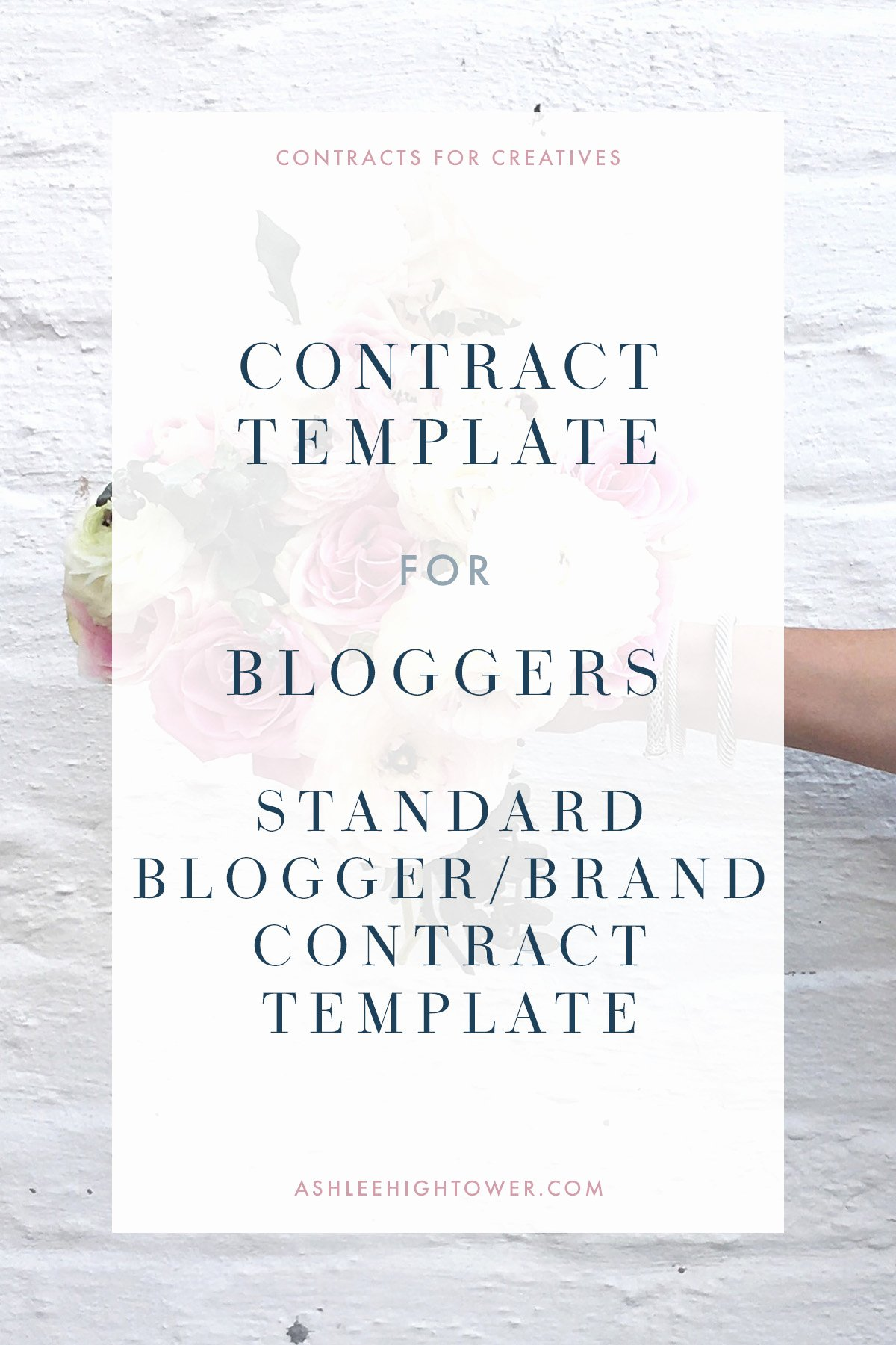 Artist Commission Contract Template Unique Blogger Brand Contract Contract for Bloggers