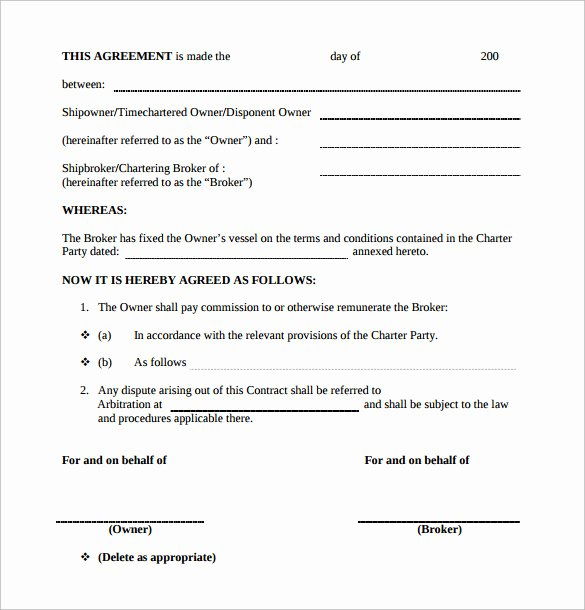 Artist Commission Contract Template Unique Mission Contract Template 9 Download Free Documents