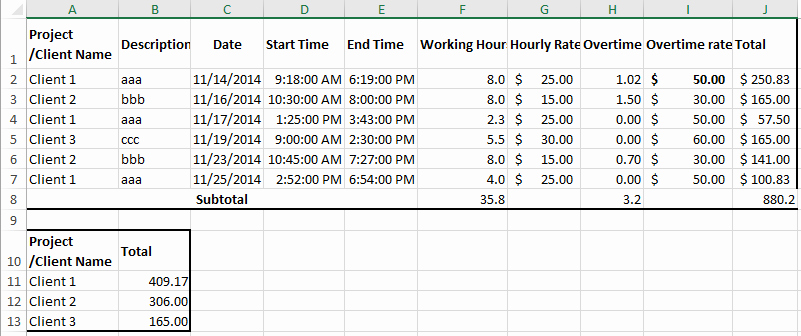 Attorney Billing Timesheet Templates New How to Create Billable Hours Template In Excel