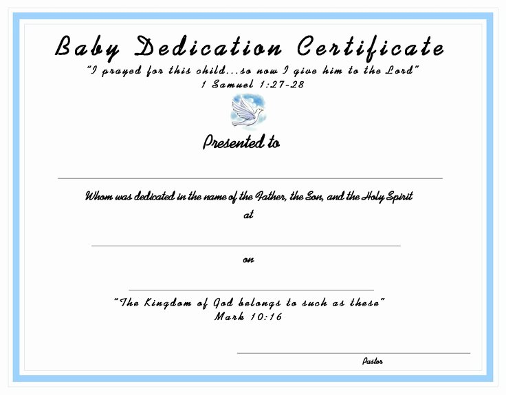 Baby Dedication Certificate Template Beautiful 10 Best Church Certificates Images On Pinterest