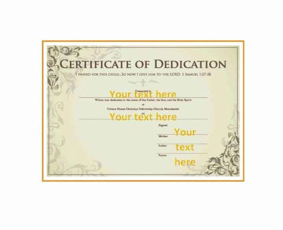 Baby Dedication Certificate Template Best Of 50 Free Baby Dedication Certificate Templates Printable