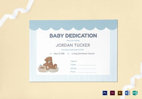Baby Dedication Certificate Template Best Of Baby Dedication Certificate Template 21 Free Word Pdf