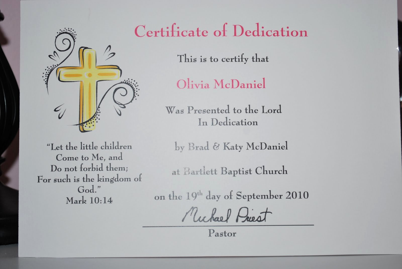 Baby Dedication Certificate Template Best Of Baby Makes Three Baby Dedication