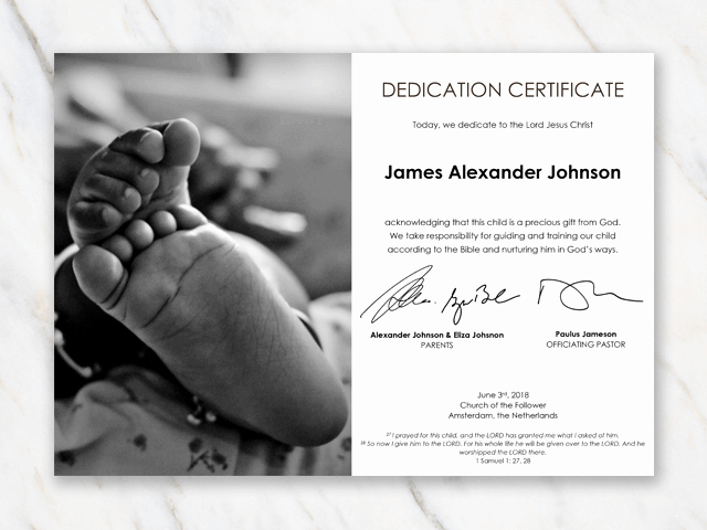 Baby Dedication Certificate Template Lovely Baby Dedication Certificate Template for Word [free Printable]
