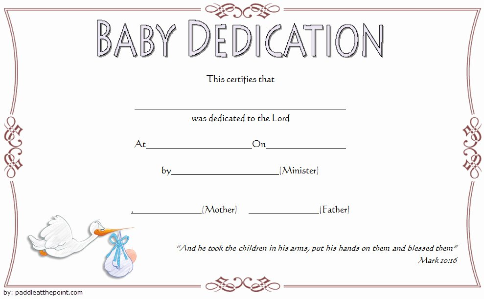 Baby Dedication Certificate Template New 7 Free Printable Baby Dedication Certificate Templates Free