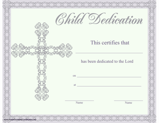 Baby Dedication Certificate Template New This Beautiful Religious Certificate Of Child or Baby