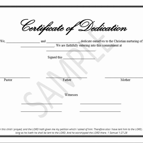 Baby Dedication Certificate Template Unique Printable Child Dedication Certificate Templates the
