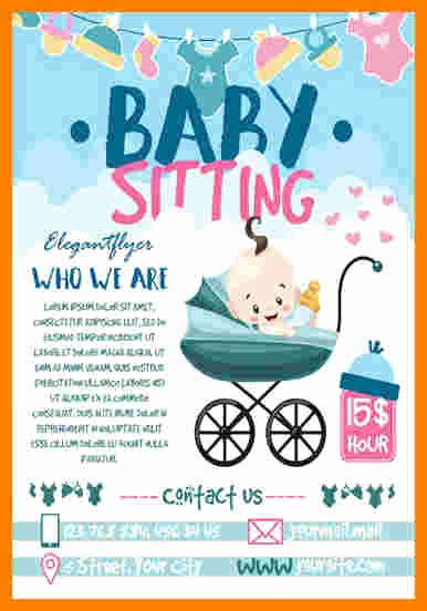Babysitting Flyer Templates Free Fresh 8 Babysitting Flyer Template