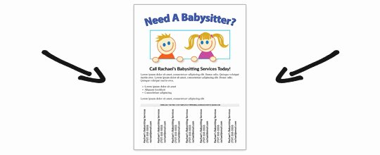 Babysitting Flyer Templates Free Fresh Free Babysitting Flyer Template