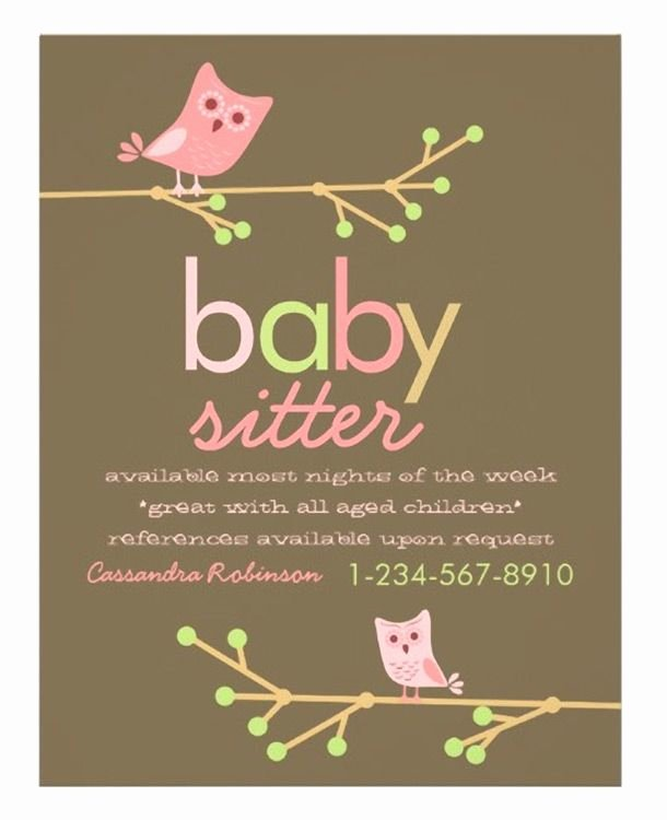Babysitting Flyer Templates Free Lovely 15 Cool Babysitting Flyers 5 Homeschooling