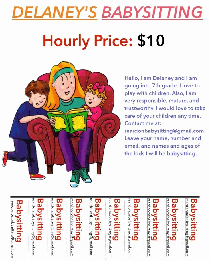 Babysitting Flyer Templates Free New 24 Best Images About Babysitting Flyers On Pinterest