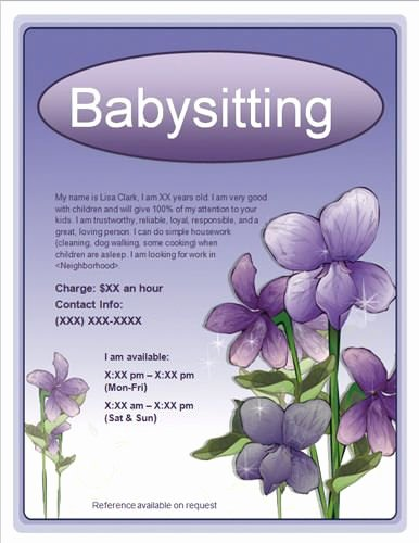 Babysitting Flyer Templates Free Unique 10 Best Babysitting Flyer Template Images On Pinterest