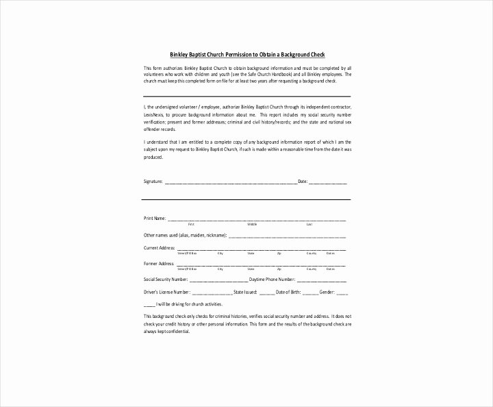 Background Check Authorization form Template Inspirational 9 Background Check Information forms & Templates Pdf
