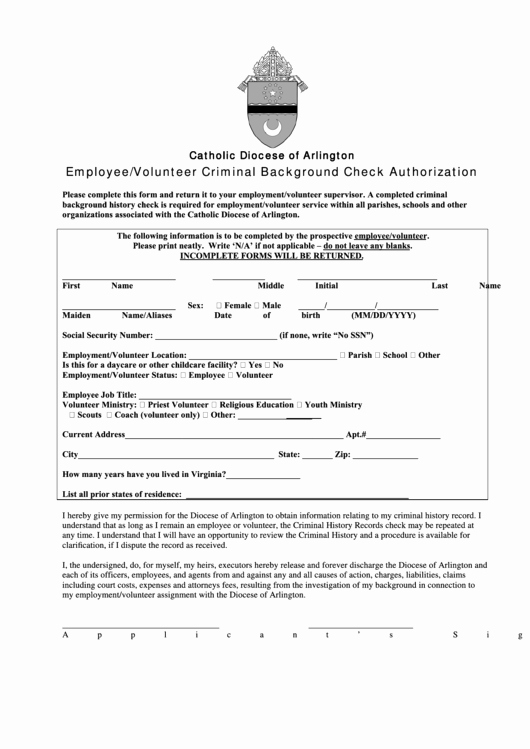 Background Check form Template Best Of 80 Background Check form Templates Free to In Pdf