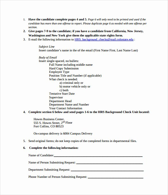 Background Check form Template Best Of Background Check Authorization form 10 Download Free