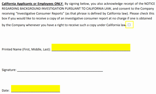 Background Check form Template Elegant Free Background Check Authorization Template form Pdf
