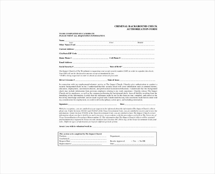 Background Check form Template Free Luxury 9 Background Check Information forms & Templates Pdf