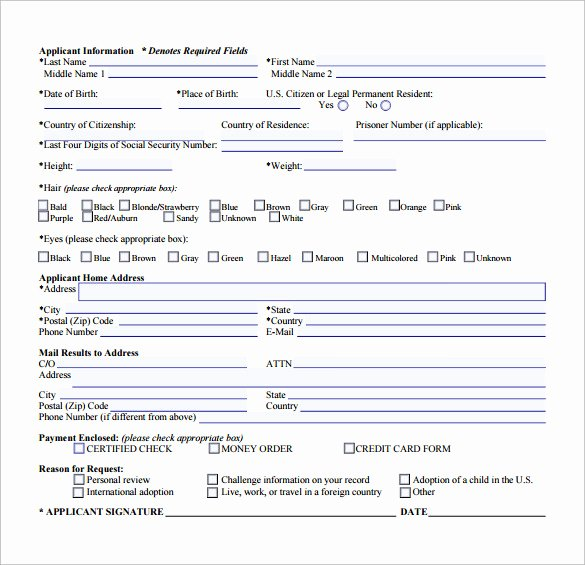 Background Check form Template Inspirational Background Check form 7 Download Free Documents In Pdf