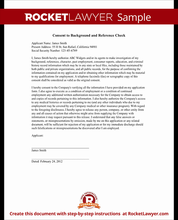 Background Check form Template Luxury Background Check form Small Business Free forms