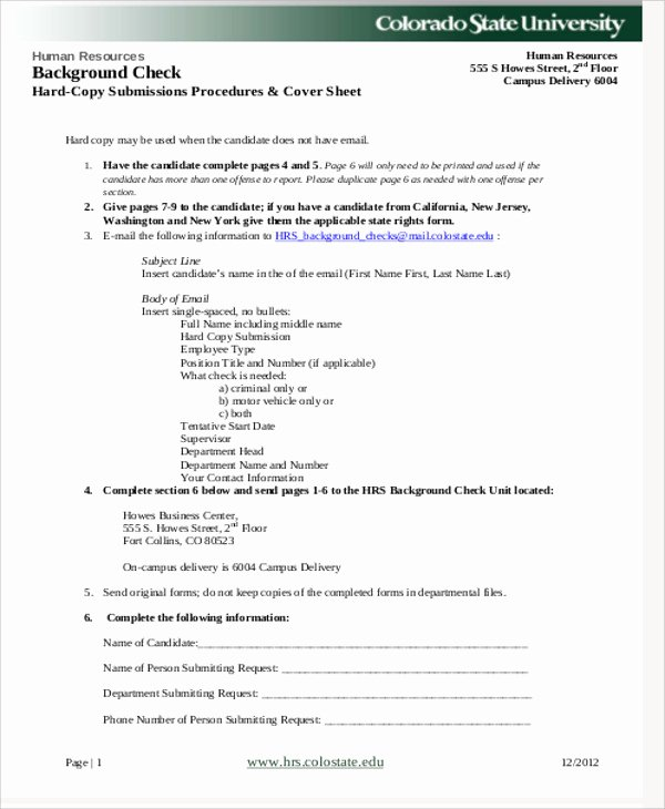 Background Check form Template Luxury Sample Background Check Release form 8 Examples In Word