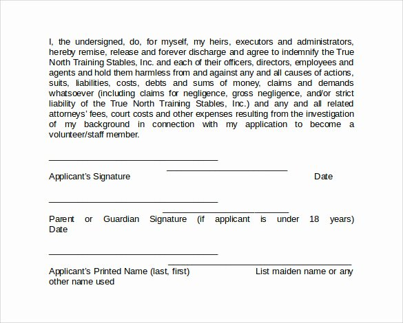 Background Check form Template New Background Check Authorization form 10 Download Free