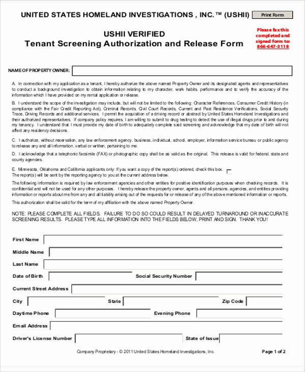 Background Check form Template New Sample Background Check Release form 8 Examples In Word