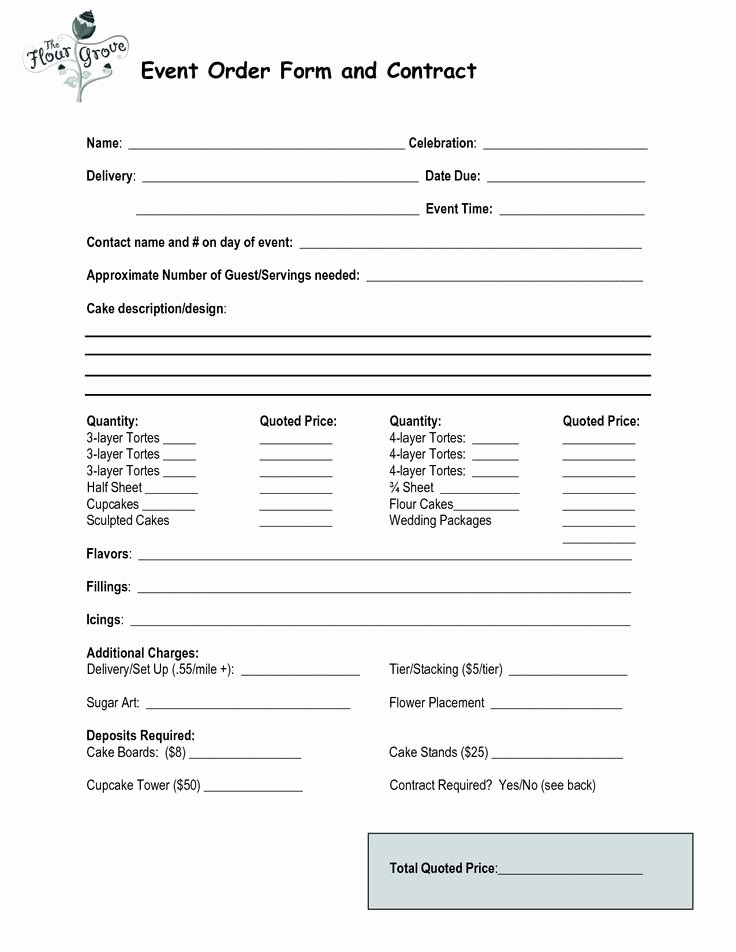 Bakery order forms Template Luxury 23 Best Cake order forms Images On Pinterest