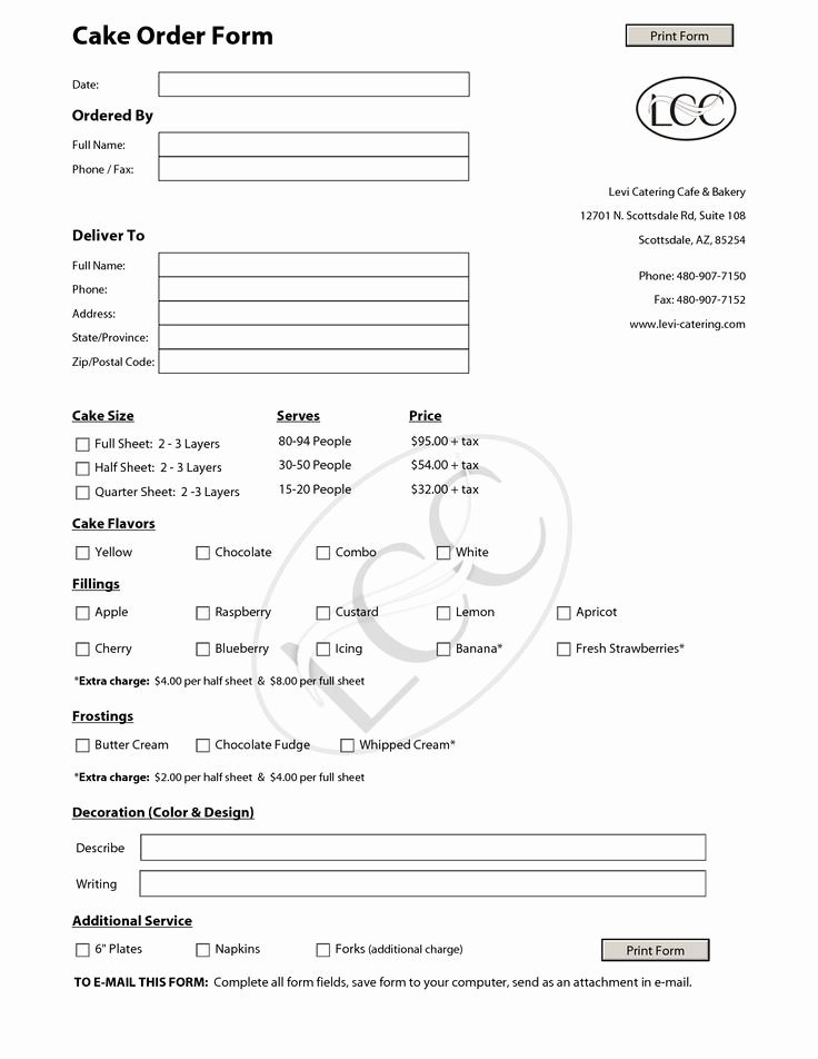 Bakery order forms Template New 23 Best Images About Cake order forms On Pinterest